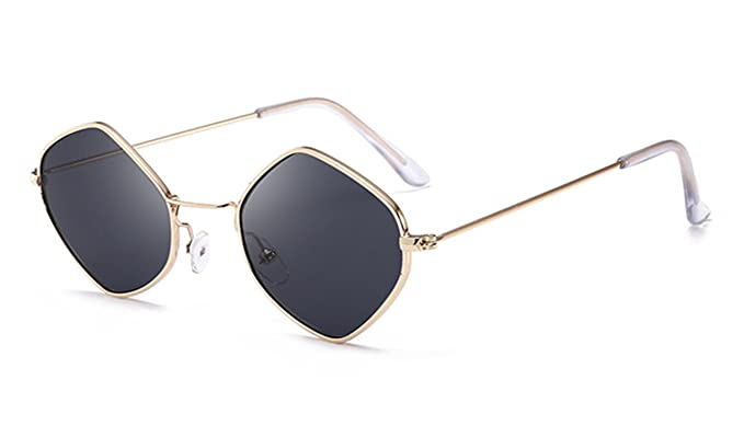 Amazon.com: anteojos de sol mujer Retro Moda Oro Rosa ...