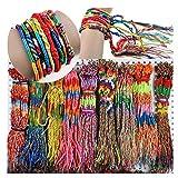 Challyhope Clearance Big Sale! Wholesale Jewelry 100Pcs Lot Braid Strands Friendship Cords Handmade Bracelets Wristbands