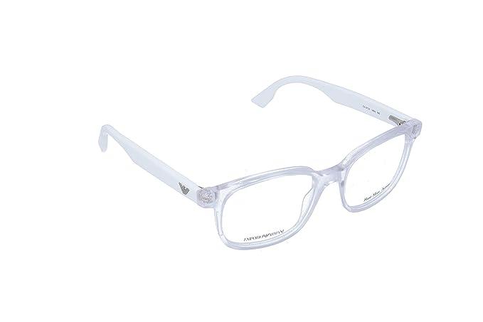 Emporio Armani 733, Monturas de Gafas para Mujer, Blanco, 51