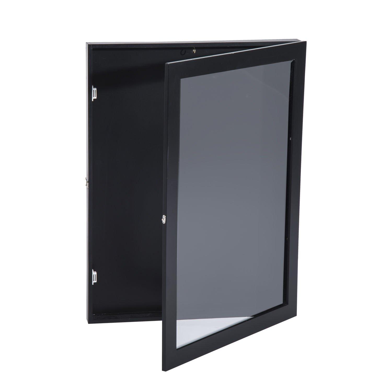 HomCom 24'' x 32'' Sports Jersey Memorabilia Shadow Box Frame Display Case