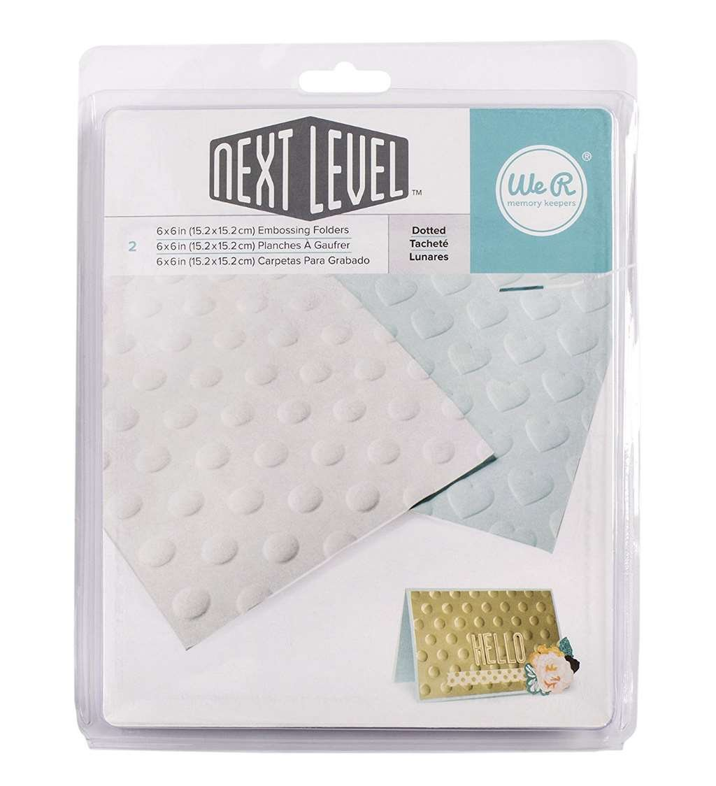 American Crafts 2 Piece We R Memory Keepers Next Level Embossing Folders Dotted