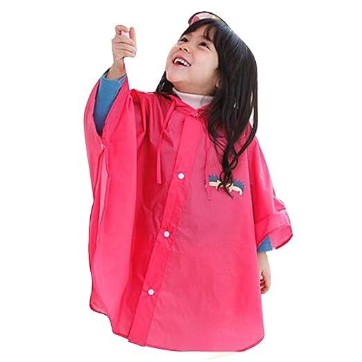 3 opinioni per Highdas bambino bambini pioggia Poncho con cappuccio Poncho impermeabile Suit
