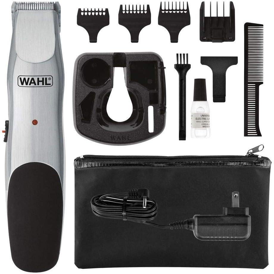 Wahl Groomsman Beard & Mustache - Afeitadora Negro, Plata: Amazon ...