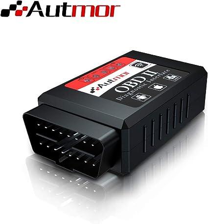 Giveet Herramienta de an/álisis con esc/áner inal/ámbrico para coche Bluetooth OBD 2 lector de c/ó herramienta de diagn/ó stico para Android y dispositivos Windows
