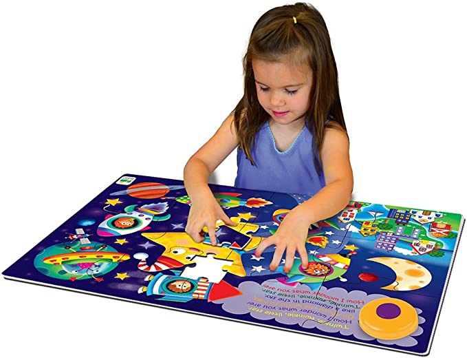 12 Piece Floor Puzzle with Electric Melody Button Itsy Bitsy Spider My First Sing Along Puzzle The Learning Journey