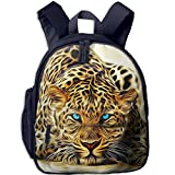 Children Leopord Face School Backpack Gift For Baby Boys & Girls Bookbags School Travel Outdoor Bagpack With Pocket For Toddlers Kids