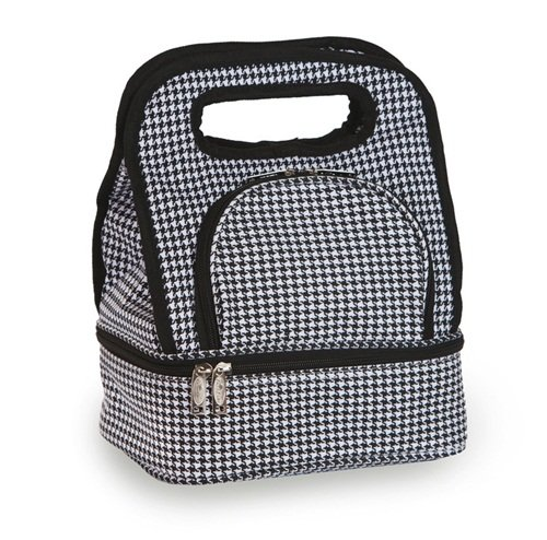 - Fully Insulated Includes Bonus Storage Food Container - Houndstooth by Picnic Plus (Savoy Tote)