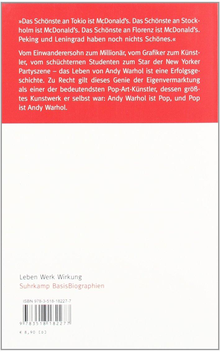 suhrkamp basisbiographie n andy warhol leben werk wirkung amazonde annette spohn bcher - Andy Warhol Lebenslauf