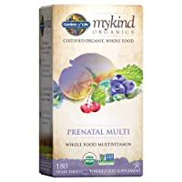 Garden of Life Prenatal Vitamins - mykind Organics Prenatal Multi - 180 Tablets, Vegan Whole Food Multivitamin, Folate not Folic Acid & Stomach Soothing Blend, Organic Prenatals Supplements for Women