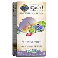Garden of Life Prenatal Vitamins - mykind Organics Prenatal Multi - 180 Tablets,...