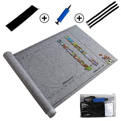 Puzzle Mat Jigsaw Puzzles Roll Up Mat Play Mat Puzzles Blanket for Up to 1500 Pieces Puzzles Travel Storage Bag: Toys & Games [5Bkhe0302382]
