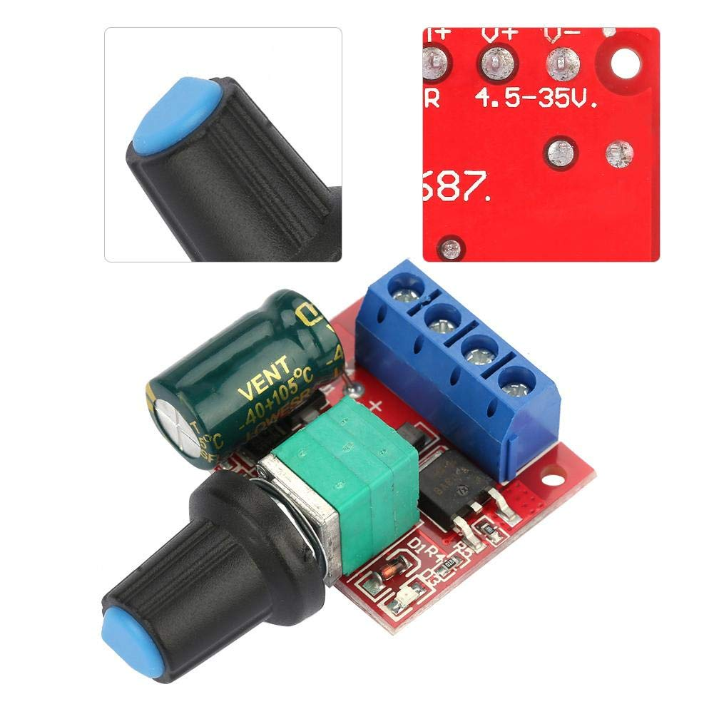 5V-28V 5A PWM DC Motor Speed Regulator Volt Controller LED Dimmer