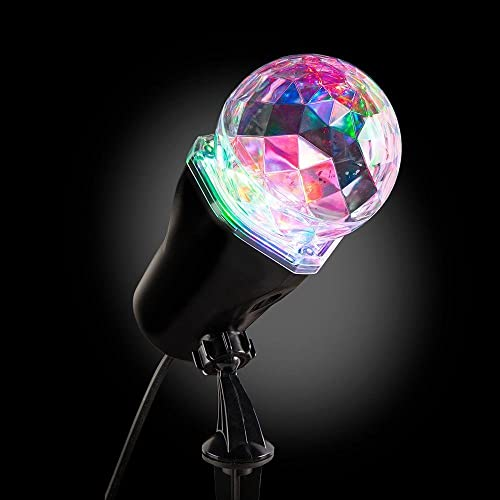 Light Show LED Ultra-Bright AppLights Multi-Colored Projection Kaleidoscope Outdoor Christmas Spotlight Stake- 140 DIFFERENT EFFECTS