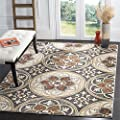 "Safavieh Lyndhurst Collection LNH341B Light Grey and Beige Area Rug, 5'3"" x 7'6"""