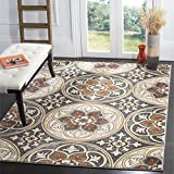 Safavieh Lyndhurst Collection LNH341A Light Grey and Coral Area Rug, 4' x 6'
