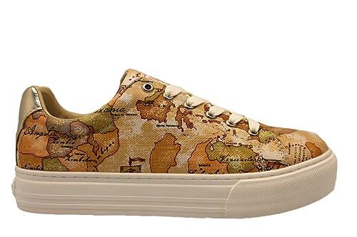 ALVIERO MARTINI 1a Classe 00082 0034515 Beige Sneakers Scarpe Donna Comode   Amazon.it  Scarpe e borse 20e82df71ad