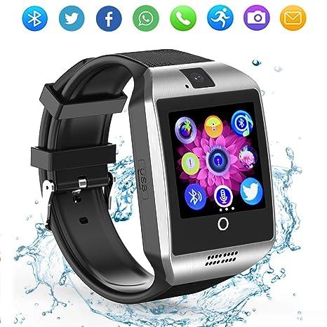 ZRSJ Bluetooth reloj inteligente con cámara, reloj de pulsera SIM ranura para tarjeta SmartWatch reloj
