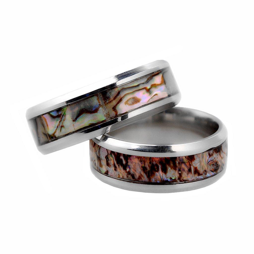 Baoblaze 1-teiliger Ring Shell-Muster und Farbe Abschnitt Herren ...