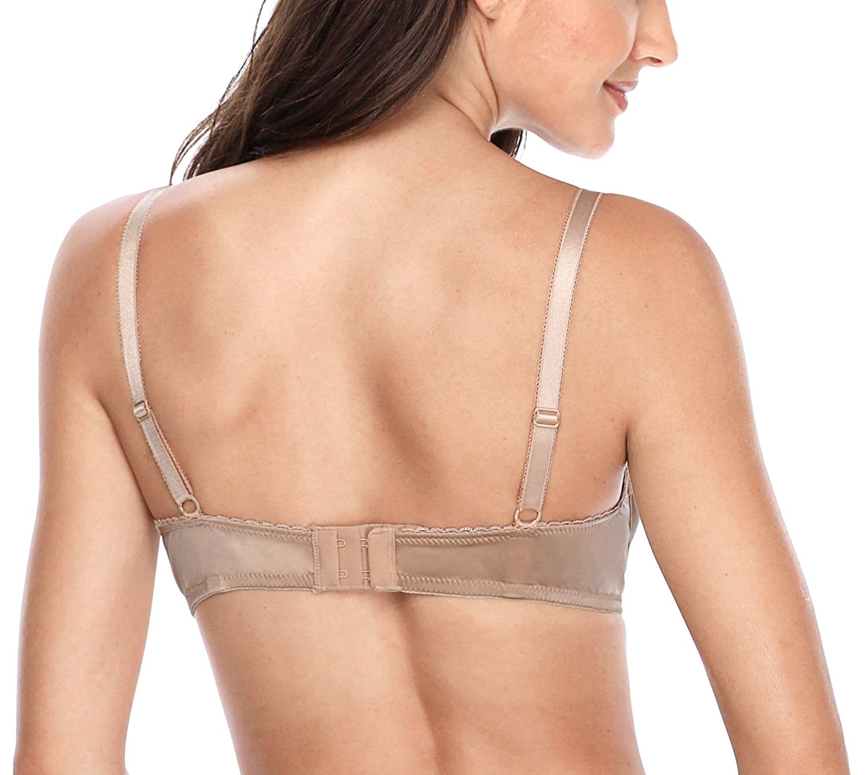 5bf5c68314 ATTRACO Womens Full Figure Unlined Bras Wire-Free Bralette Minimizer ...