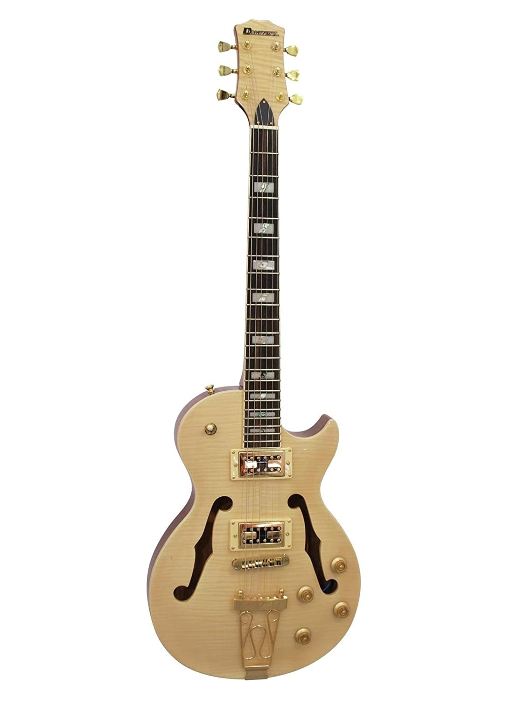 Guitarra eléctrica METEORITE, semiacústica, color natural - Guitarra ...