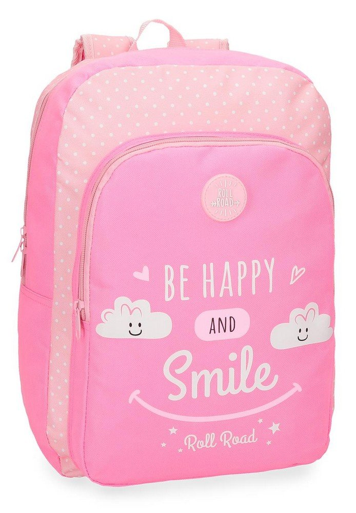 Roll Road Happy Mochila Escolar, 42 cm, 16.93 Litros, Rosa