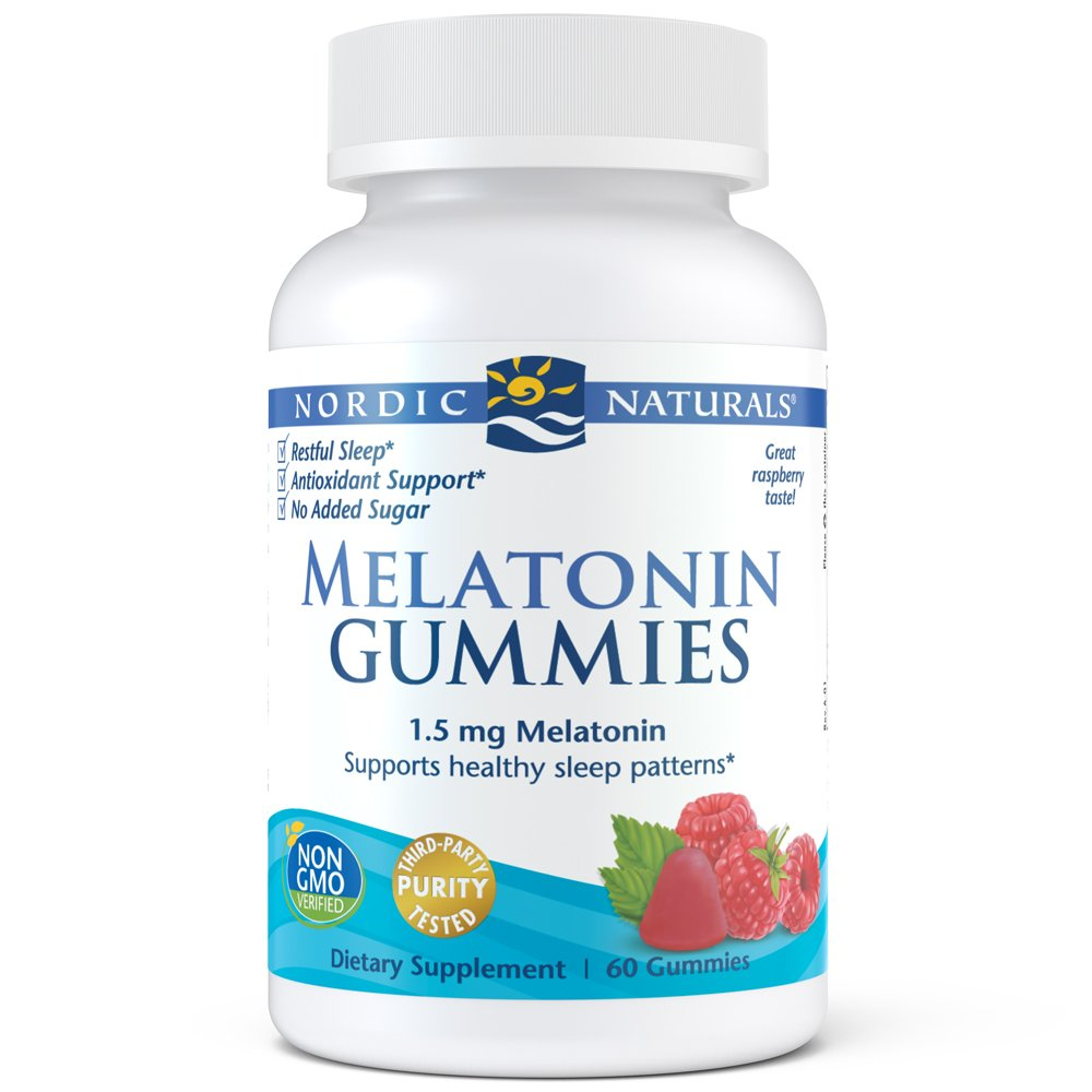 Nordic Naturals Melatonin Gummies - Chewable Gelatin-Free Gummies with 1.5 mg of Melatonin Help