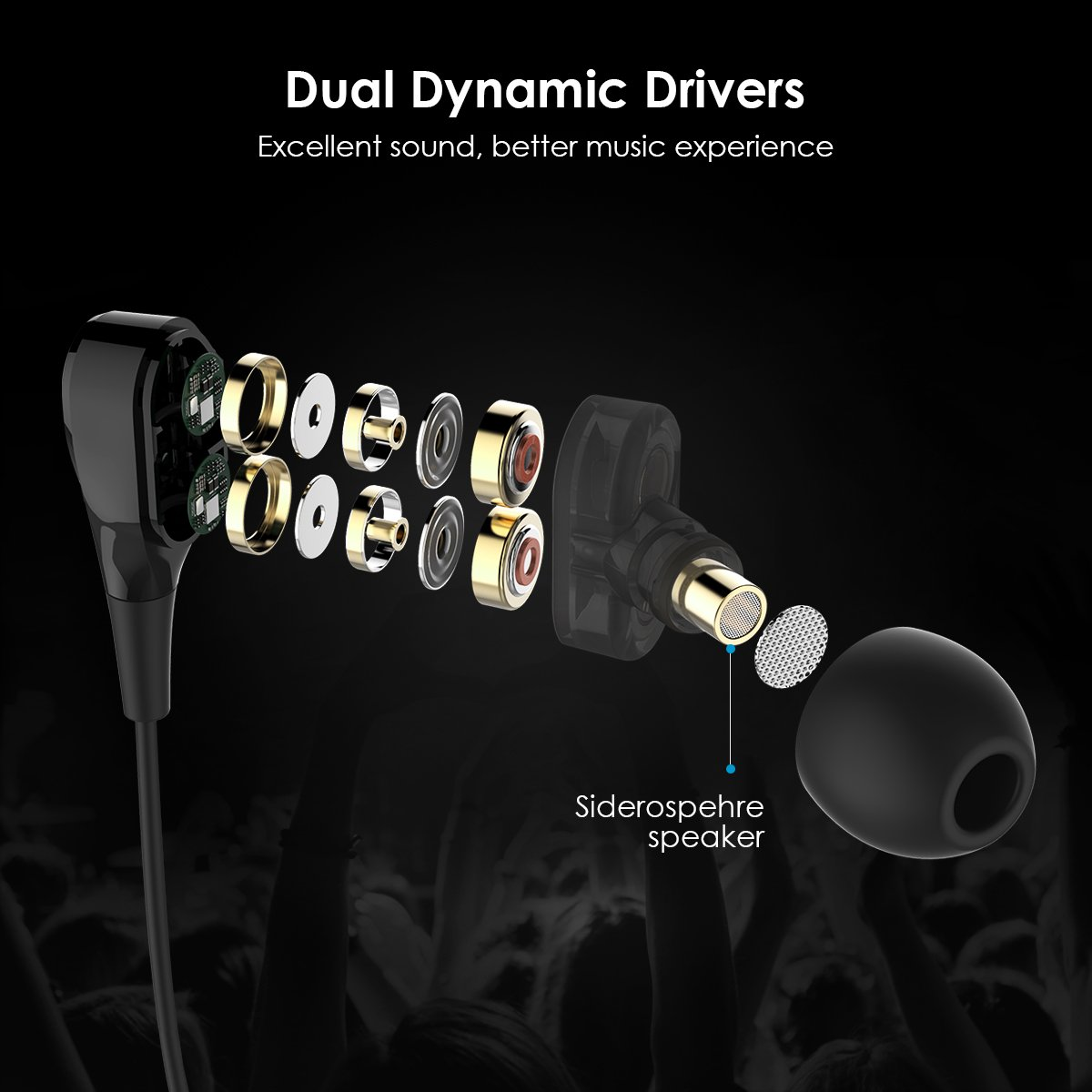 Earbuds, UiiSii DT200 in Ear Headphones with Microphone and