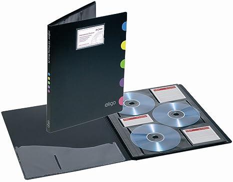 Eligo - Archivador con fundas para CDs (DIN A4, para 24 CDs)