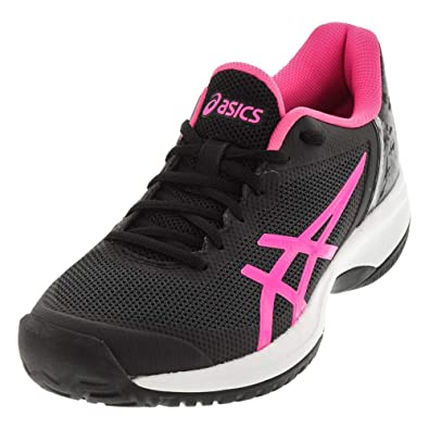 classic fit 4b2b2 bc99c ASICS Womens Gel-Court Speed Sneaker, Black Hot Pink White, Size