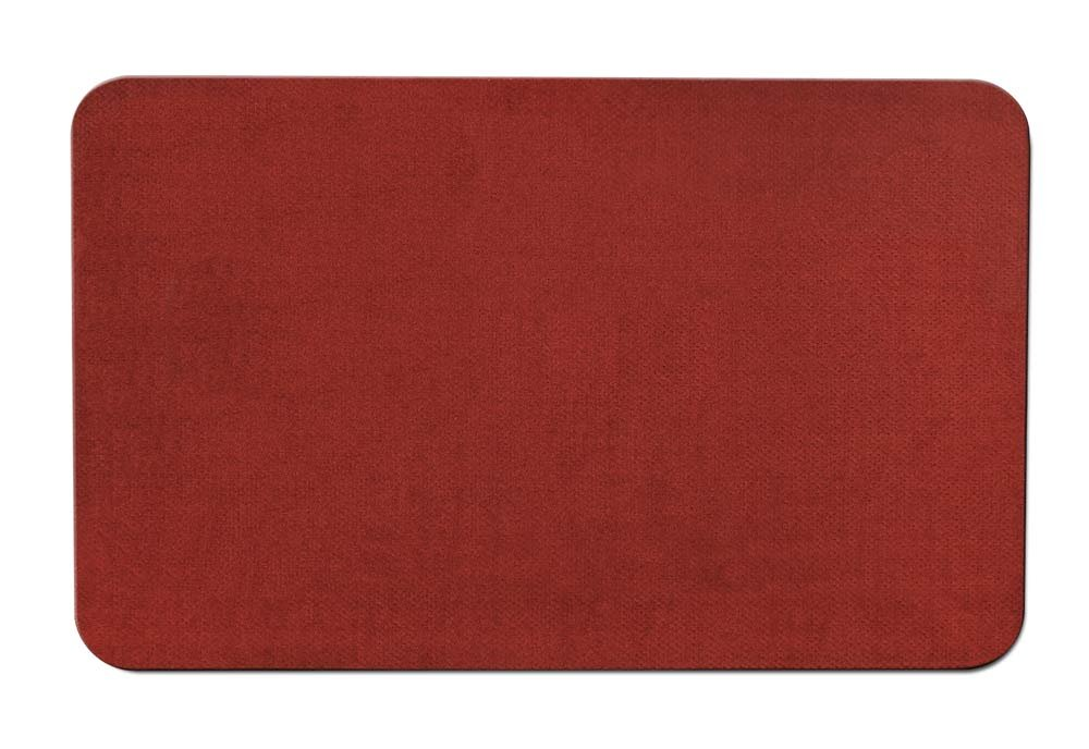 House, Home and More Skid-resistant Carpet Indoor Area Rug Floor Mat - Brick Red - 3' X 5' - Many Other Sizes to Choose From