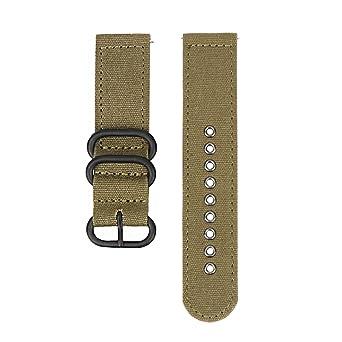 669031091951 24mm bracelet de montre bracelet toile rapide ceinture militaire montre en  nylon avec boucle noire (