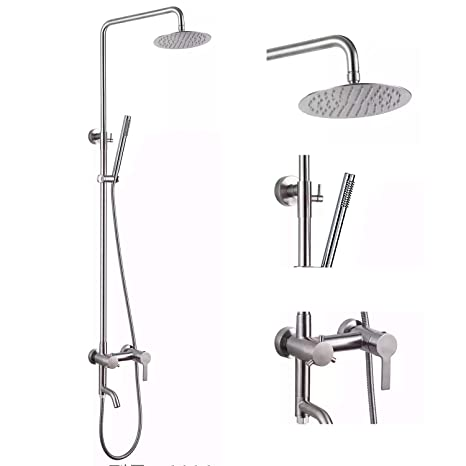 Wall Mounted Rainfall 8 Shower Panel Dual Handle Bathroom Shower Faucet System With Handheld Shower Shower Faucets Back To Search Resultshome Improvement