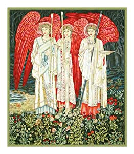 Holy Grail Angels Detail By William Morris