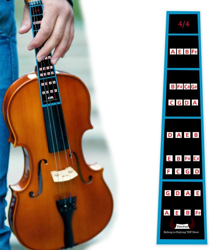 Guía de dedo para violín FineFun, pegatina para tabla de dedos tamaño 4/4,3/4, 2/1,4/1,8/1,10/1: Amazon.es: Instrumentos musicales