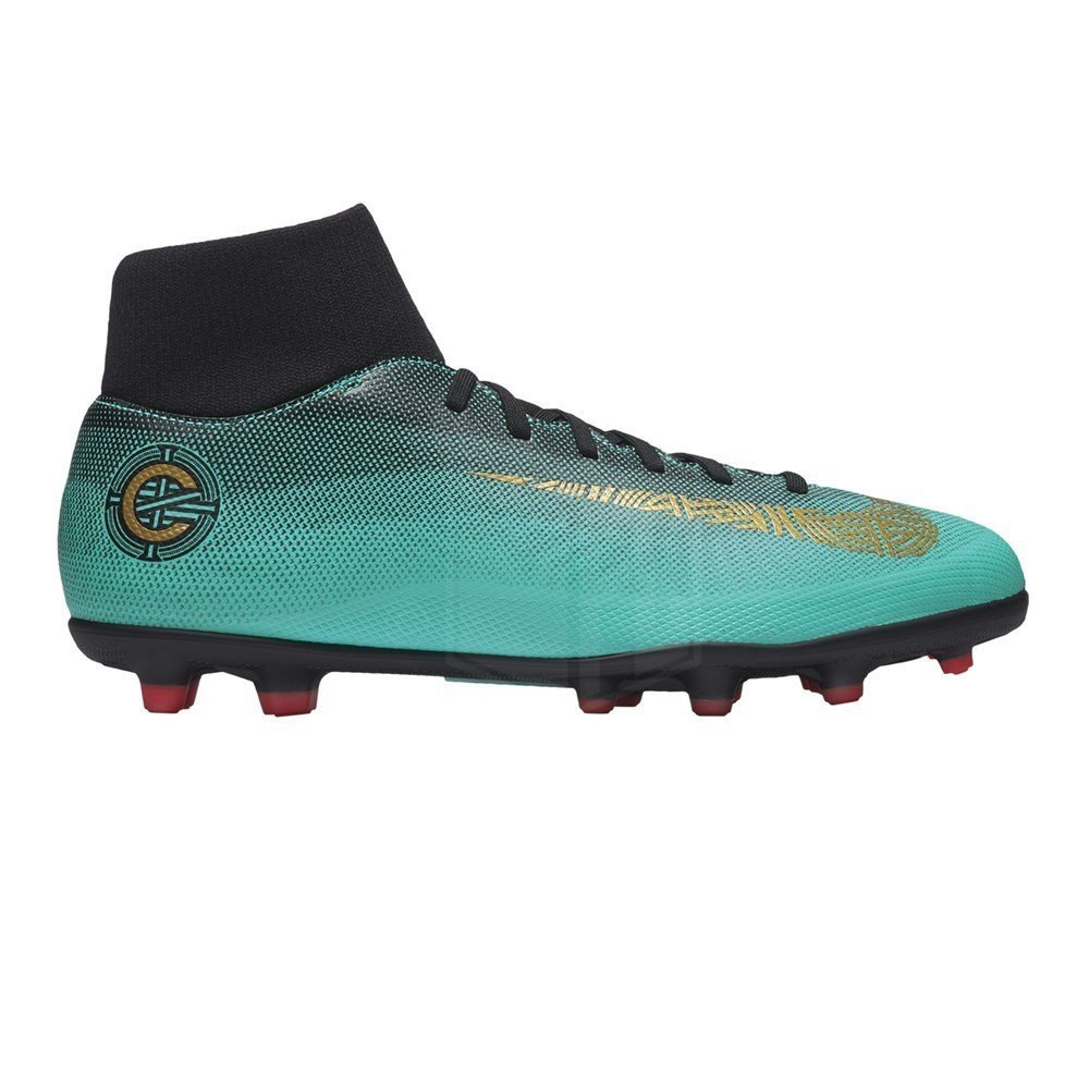 9eb291669 Nike Superfly 6 Club CR7 MG Mens Football Boots AJ3545 Soccer Cleats (UK  9.5 US 10.5 EU 44.5, Clear Jade Vivid Gold 390): Buy Online at Low Prices  in India ...