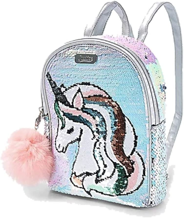 New Justice Backpack Sequin Mini Backpack For Girls Rainbow color