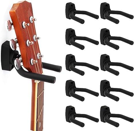 10 ganchos de pared para guitarra, soporte de exhibición, soporte ...