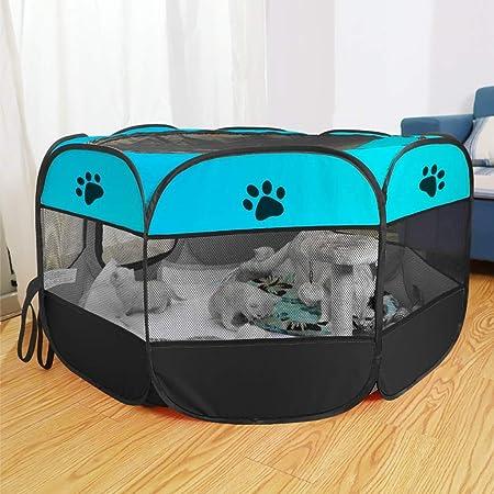 LUGEUK Sala de Parto para Gatos Caja de Arena para Gatos Embarazada Carpa de cría de Perros Gato Embarazada Suministros de producción para Mascotas Cerrados (Color : E, Size : S): Amazon.es: