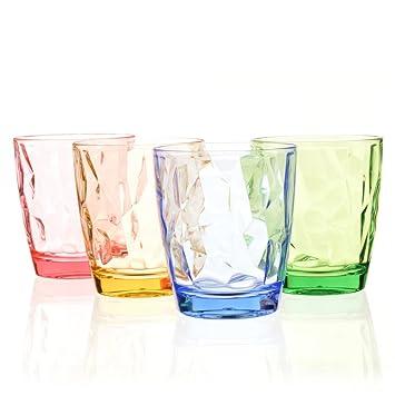 Urmelody color acrílico Party Copas Bar Vaso de cerveza Vasos de agua irrompibles Único acampar Cumpleaños Vasos de vino rojos Vaso de plástico para ...