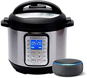 Instant Pot Smart WiFi 6 Quart Multi-use Electric Pressure with Echo Dot (3rd Gen) - Charcoal