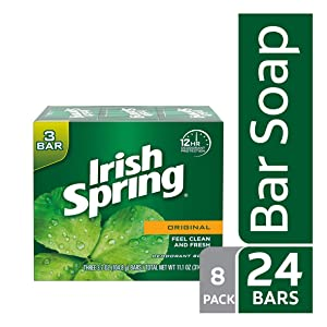 Irish Spring Original Deodorant Bar Soap, 3 Count per Box, 11.1 Ounce, Pack of 8