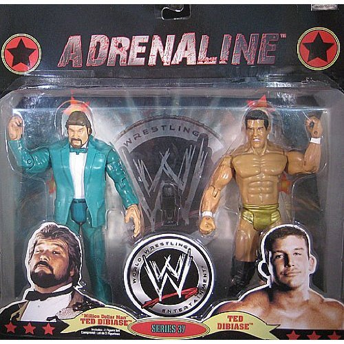 WWE Adrenaline 2 Packs Series #37 Million Dollar Man and Ted Dibiase JR (Wwe Ted Figure Dibiase)
