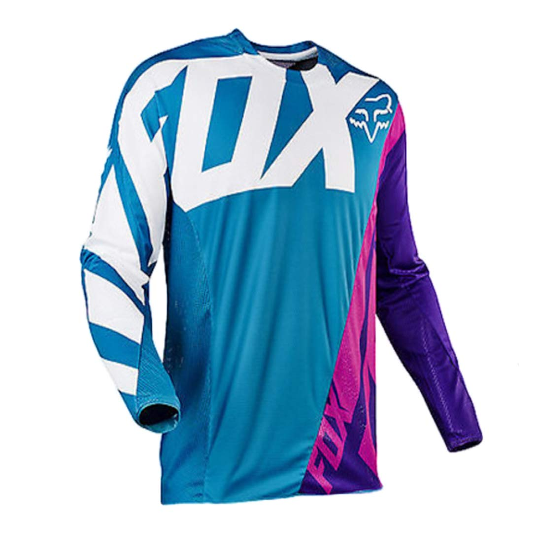 YSYFZ MTB Jersey Outdoor Ciclismo Sportivo Tuta da Equitazione Camicia a Maniche Lunghe Fuoristrada Servizio di Moto a Maniche Lunghe T-Shirt Downhill Tuta Sportiva off-Road Uomo