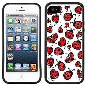 Ladybugs Lady Bugs Handmade iPhone 5C Black Case