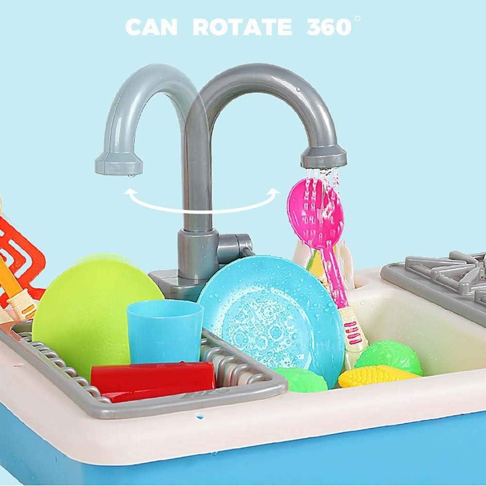 Juguetes de Cocina para Lavar Juegos de simulaci/ón Juguetes para Cortar lavavajillas Utensilios de Cocina FXQIN Juguetes de Fregadero de Cocina para ni/ños Grifo y desag/üe de Agua a presi/ón