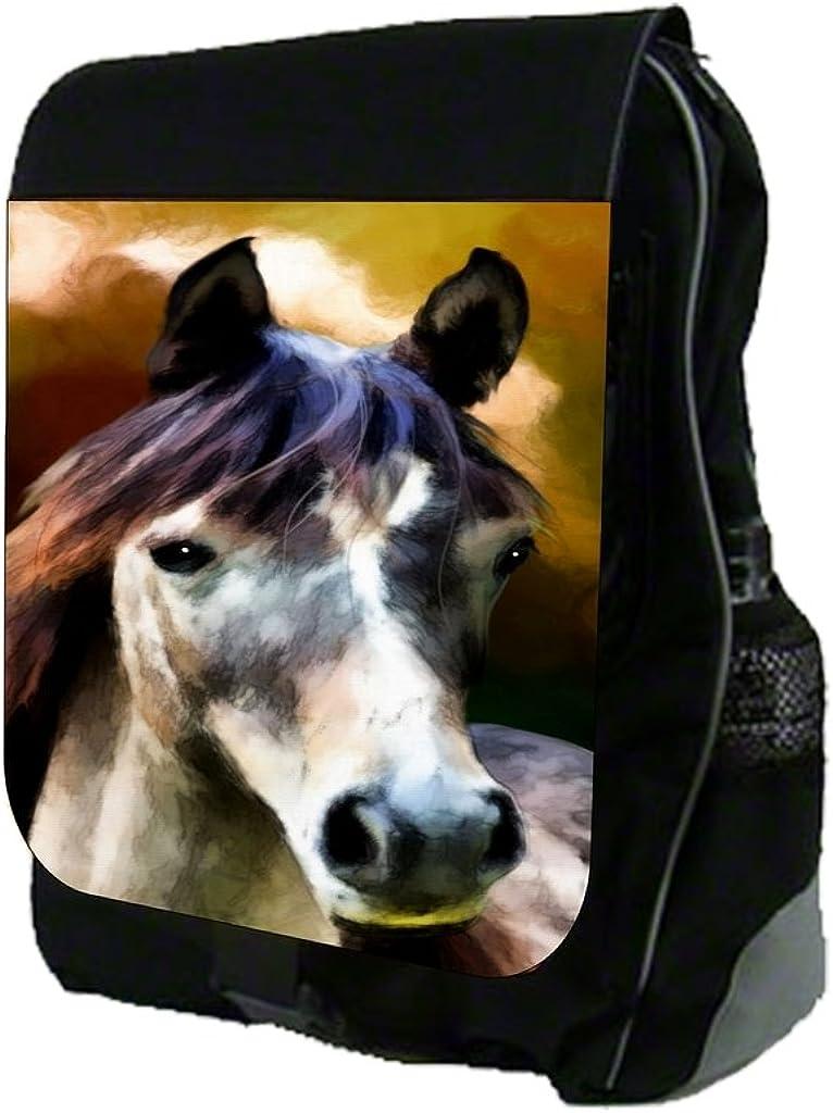 Vintage Horse Painting Print Design TM School Backpack