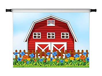 Amazon.com: Kate 7 x 5 pies de dibujos animados rojo casa ...