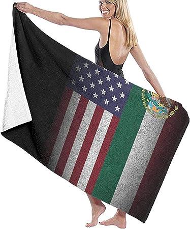 ElRLSHDH Toallas De Baño Playa Toalla De Playa,Manta Blanda,Toalla Americana De La Bandera Mexicana De México para Viajes,Playa,Natación,Baño,Camping Y Picnic,130X80 CM: Amazon.es: Hogar
