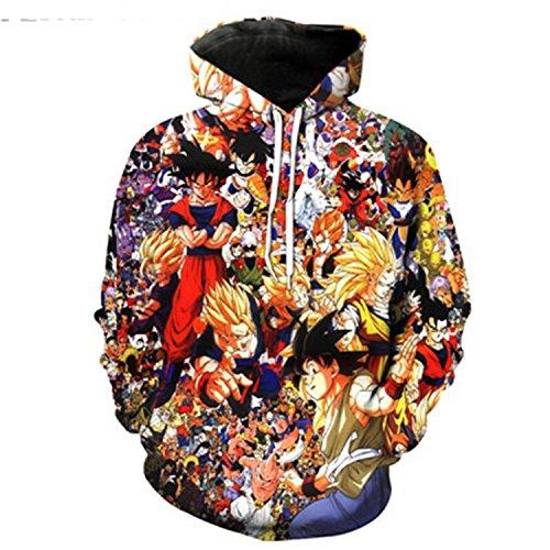 Dragon Ball Z Hoodies Men 3D Printed Pullovers Sportswear Dragonball Sweatshirts1 for cheap