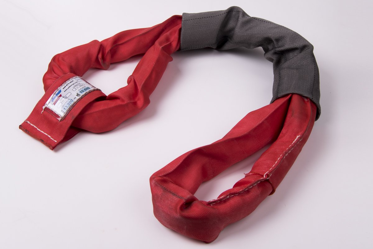 American Industrial / 3 1/2'' Body / Eye To Eye Polyester Round Sling - Red / 5 Ft. Long / Ee150X5' / 13,200 Lbs. Vertical